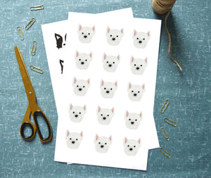 West Highland Terrier Stickers