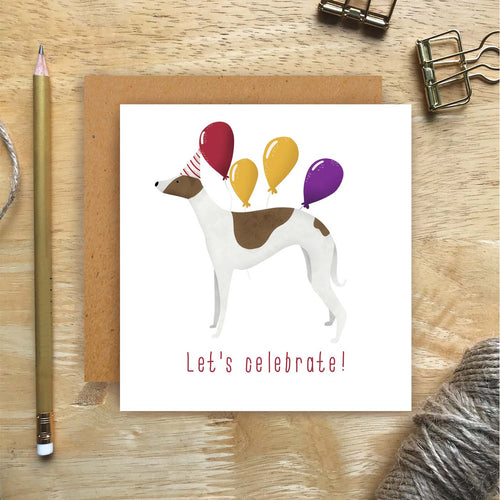 Whippet Let's Celebrate Card