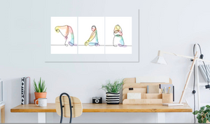 Set of 3 Salah Pose DIGITAL PRINT
