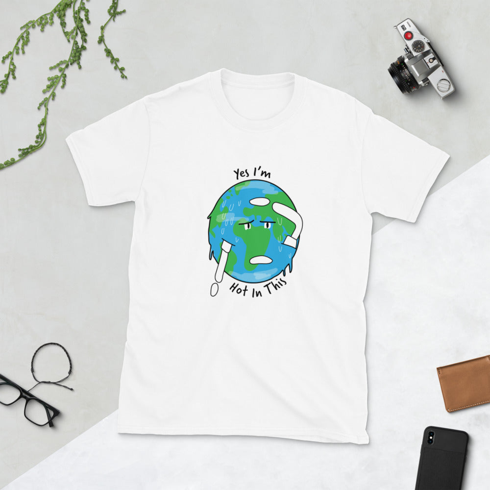Earth is Hot in This Short-Sleeve Unisex T-Shirt