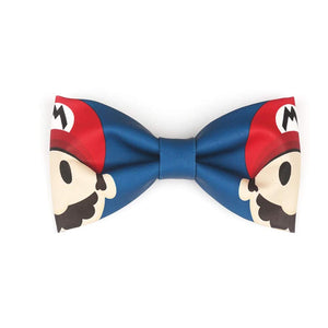 High-end Handmade White Bow Tie for Boys Cute Mario-Kumamon Bow Tie Marriage Wedding Gift Baby Accessories