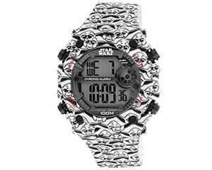 AM:PM Star Wars Men's Yoda Digital Sports Watch Black/White SP175-G432 51mm Case
