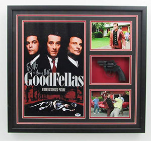 Ray Liotta Signed/Framed Goodfellas Movie Poster Prop Gun Collage PSA/DNA