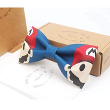 Load image into Gallery viewer, High-end Handmade White Bow Tie for Boys Cute Mario-Kumamon Bow Tie Marriage Wedding Gift Baby Accessories