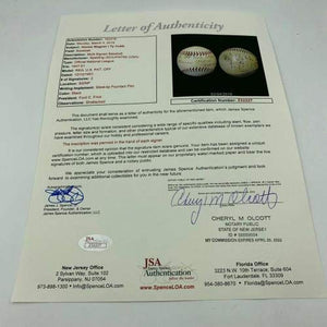The Finest Ty Cobb & Honus Wagner Dual Signed National League Baseball COA - JSA Certified - Autographed Baseballs
