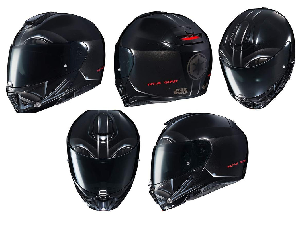 HJC Star Wars Unisex-Adult Modular Darth Vader Graphic Motorcycle Helmet Black Large