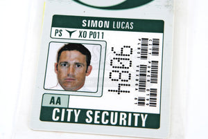 Original Movie Prop - The Matrix Reloaded - Simon Lucas City Power Photo I.D. - Authentic
