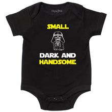 Load image into Gallery viewer, Spoof Bodysuit, Inspired by Stars Wars, Funny Gift for Baby, Babyshower, Black, 0-3 mo