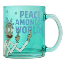 Load image into Gallery viewer, RICK AND MORTY Rick & Morty Peace Amongst Worlds Glass Coffee Mug