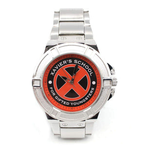 X-Men Xavier School for The Gifted Watch with Metal Band