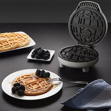 Load image into Gallery viewer, ThinkGeek Star Wars Death Star Waffle Maker - Perfect for All Your Evil Waffle Needs - Produces a 7-Inch Diameter Round Waffle with 2 Sections