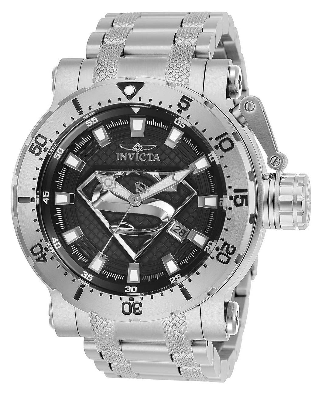 Invicta Men's DC Comics Automatic-self-Wind Watch with Stainless-Steel Strap, Silver, 26 (Model: 26824)