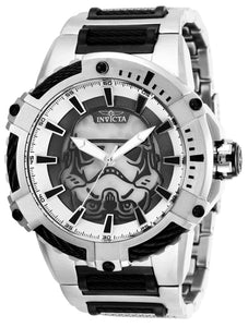 Invicta Men's Star Wars Automatic-self-Wind Watch with Stainless-Steel Strap, Black, 30 (Model: 27117)