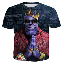 Load image into Gallery viewer, YX GIRL 3D Hoodies Unisex 3D Printed Avengers Infinity War Thanos t-Shirt Funny t-Shirt tee Shirt (Thanos tee, S/M)