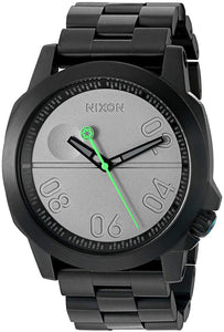 Nixon Men's 'Ranger 45 SW, Death Star' Quartz Stainless Steel Casual Watch, Color:Black (Model: A521SW-2383-00)