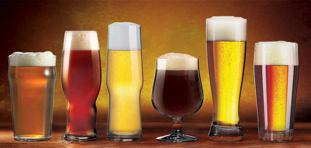 Craft Brew Beer Glasses (Set of 6)