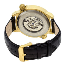 Load image into Gallery viewer, Reign Mens Thanos Watch,White Dial,Gold Bezel,Black Leather Strap