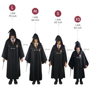 Cinereplicas Harry Potter Authentic Tailored Wizard Robes Cloak (Large, Gryffindor)