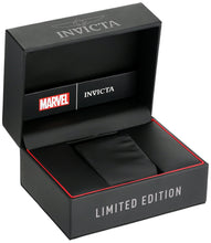 Load image into Gallery viewer, Invicta Men's Marvel Stainless Steel Automatic-self-Wind Watch with Silicone Strap, Black, 32 (Model: 26752)