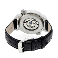 Load image into Gallery viewer, Reign Mens Thanos Watch,Black Dial,Silver Bezel,Black Leather Strap