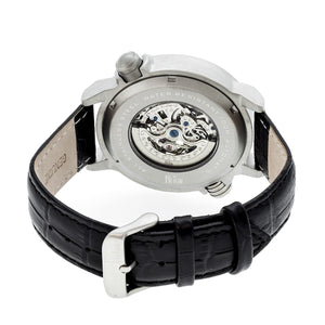 Reign Mens Thanos Watch,Black Dial,Silver Bezel,Black Leather Strap