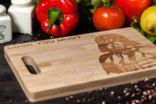 Load image into Gallery viewer, Wall Art Star Wars Charcuterie Board Engraved Bamboo Cutting Board for Star Wars Party Supplies and  Accessories