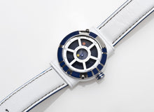 Load image into Gallery viewer, Star Wars Men's Quartz Watch With Blue Dial Analogue Display And White Leather