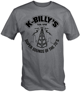 6TN Men's K Billy's Super Sounds of The 70's T Shirt (L, Sport Grey)