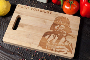 Wall Art Star Wars Charcuterie Board Engraved Bamboo Cutting Board for Star Wars Party Supplies and  Accessories