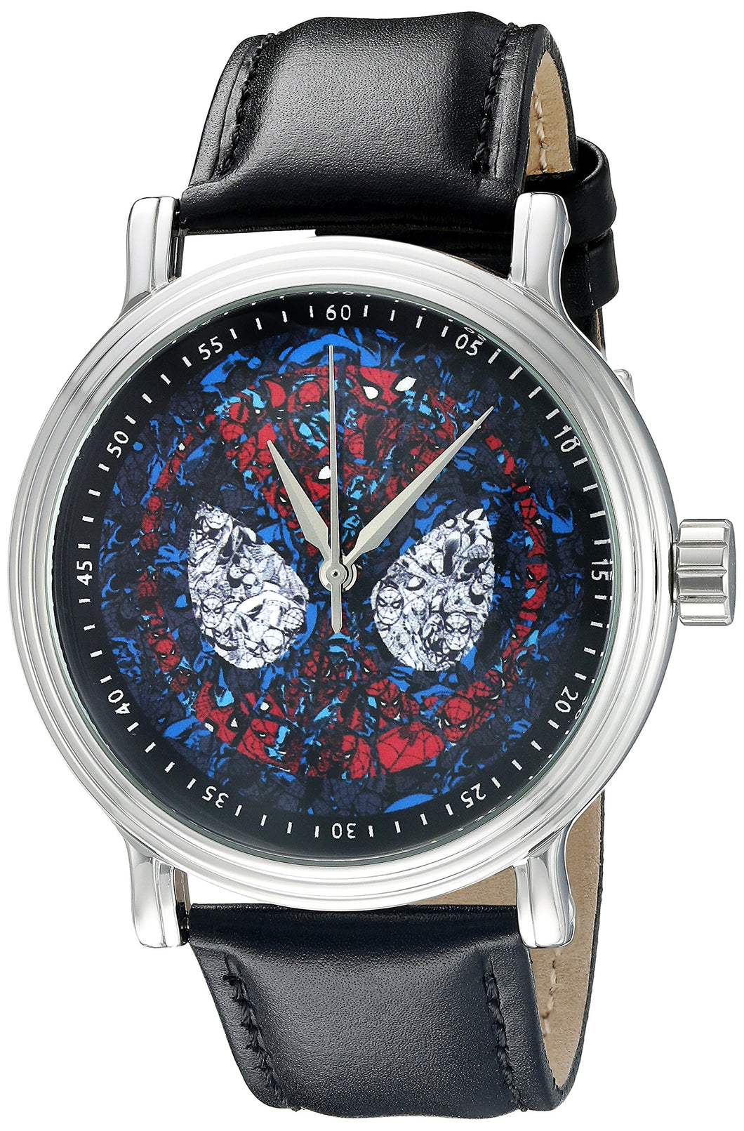 Marvel Spider-Man Men's W002541 Spider-Man Analog Display Analog Quartz Black Watch