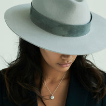 Load image into Gallery viewer, grey fedora womens