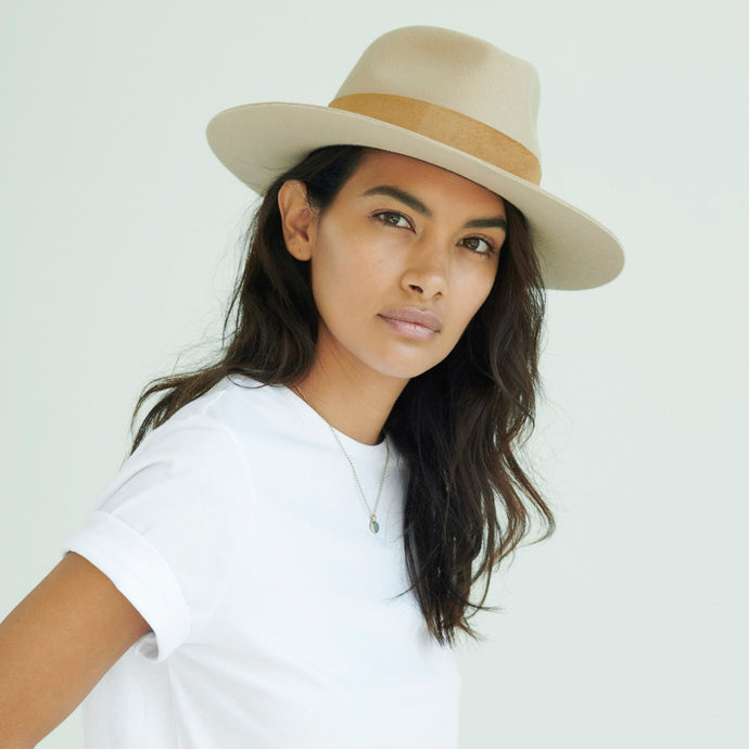 camel fedora for women