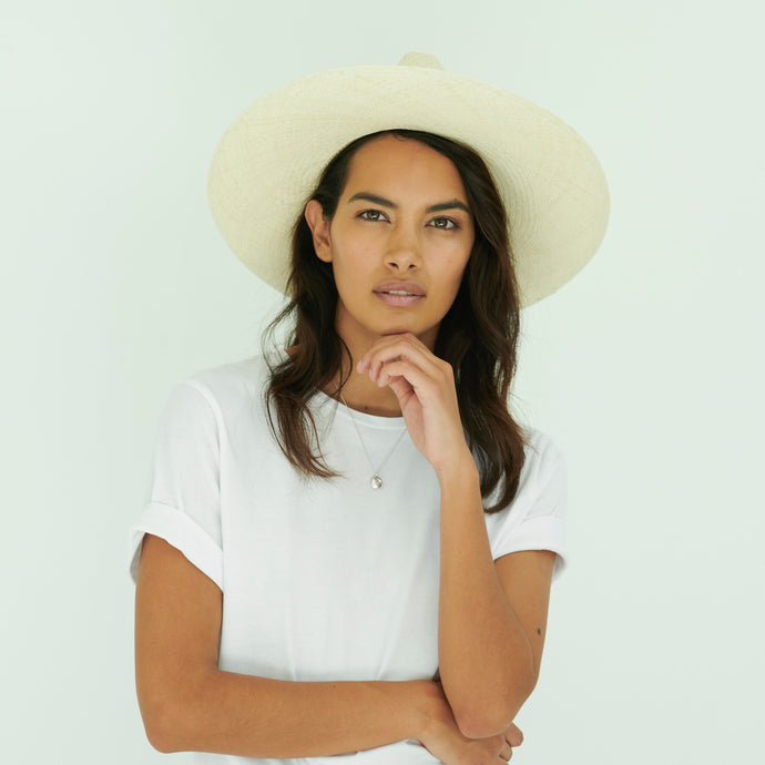 Isabella Panama Hat- Natural Straw (Low in Stock)