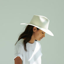 Load image into Gallery viewer, womens white fedora hat
