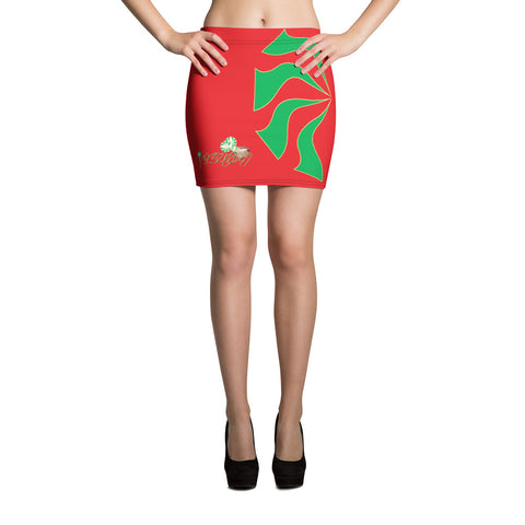iCANDY Sauce Culture Mint green/red Mini Skirt