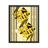 RICH RULE! (cream) Framed photo paper poster