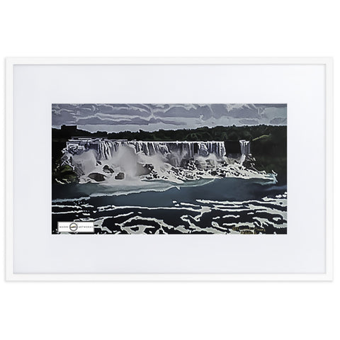 Niagara Falls Framed Poster With Mat
