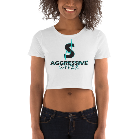 AGGRESSIVE SAVER Women's Crop Tee