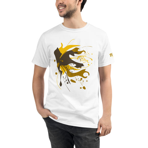 SAUCE CULTURE SPLASH (white, pure gold) Organic T-Shirt