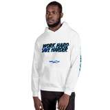 SHARKS SAVE HARDER (White) Unisex Hoodie
