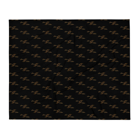 SAUCE CULTURE UNLIMITED (Black, Pure Gold) Throw Blanket