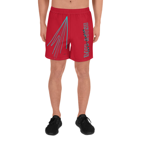 ELR Fast Lines (Red) Men's Athletic Long Shorts