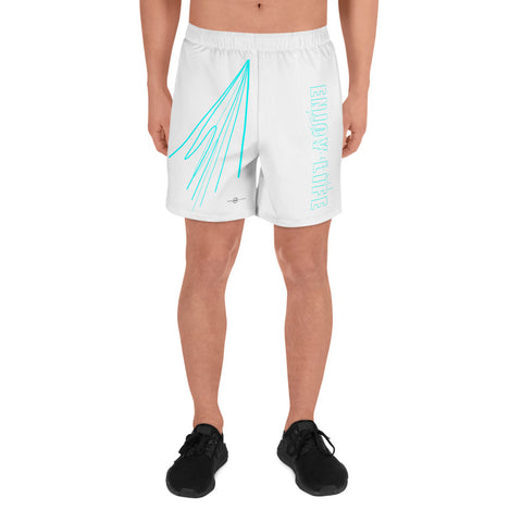 ELR Fast Lines (White) Men's Athletic Long Shorts