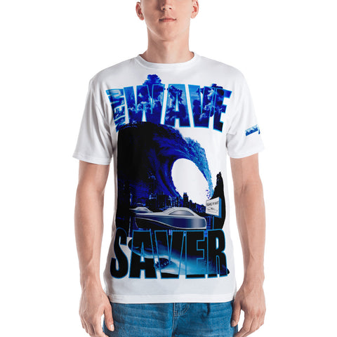 AGGRESSIVE SAVE OR SHARK PREY Large - Style Men's T-shirt