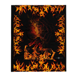 LIT FIRE HEAD Throw Blanket