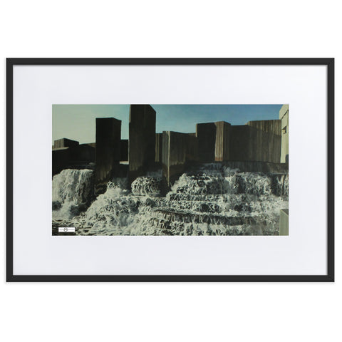 Kinetic Flow Matte Paper Framed Poster With Mat