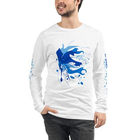 SAUCE CULTURE SPLASH (cool blue) Unisex Long Sleeve Tee
