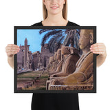 Pharaoh's House Framed photo paper poster