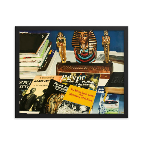 My Study, My Culture Framed photo paper poster