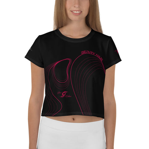 iCANDY BERRY HAZE (Black) Crop Tee